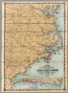 North Carolina With Part Of Virginia & South Carolina.