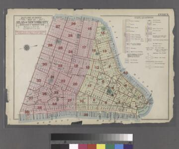 Outline and Index Map of Atlas of New York City.
