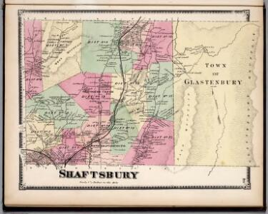 Shaftsbury and Glastenbury, Bennington County, Vermont.