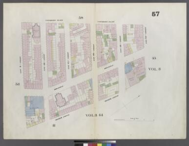 Plate 57: Map bounded by 14th Street, Fourth Avenue, 9th Street, University Place
