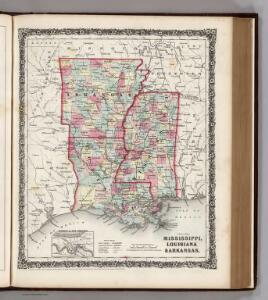 Mississippi, Louisiana, and Arkansas.