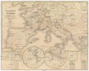 Wein-Karte von Europa, oder, Darstelleung derjenigen Laeneder, Provinzen und einzelnen Orte des grössten Theils von Europa